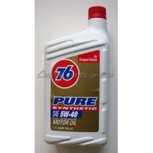 76 pure synthetic motor oil 5w 40 custom parts service