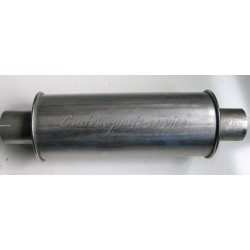 "Stainless muffler round 2½"" 410 mm"