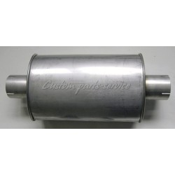 "Stainless muffler oval 2½"" 460 mm"
